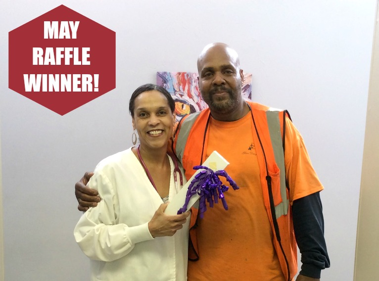 May Raffle Winner at Auburn Animal Hosp